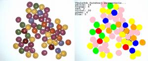 Farebná segmentácia a počítanie